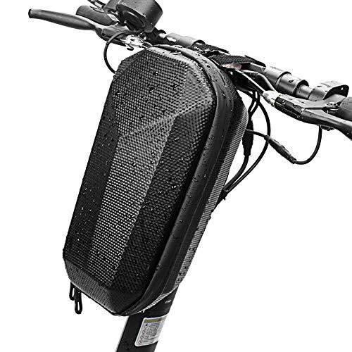 Bolsa para Patinete Electrico Impermeable - Bolsa Frontal para Scooter de Gran Capacidad 4L Diseño Moderno y Elegante -Accesorios para Patinete Electrico-Bolsa de Transporte Compatible con Bicicletas