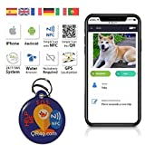 QR4G.com GPS Plaque d'identification intelligente pour animaux de compagnie (chiens et chats) avec GPS NFC QR
