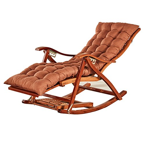 Chaise longue YLLXX Chaise Berçante Adulte Été Lit De Camp Maison Balcon Loisirs Vieux Homme Chaise en Bambou Pliant Déjeuner Pause Chaise Chaise Facile (95 * 47 * 60Cm)