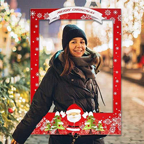 Weddecor Año Nuevo & Navidad Fiesta Accesorios - Papá Noel Estampado Navidad Marco