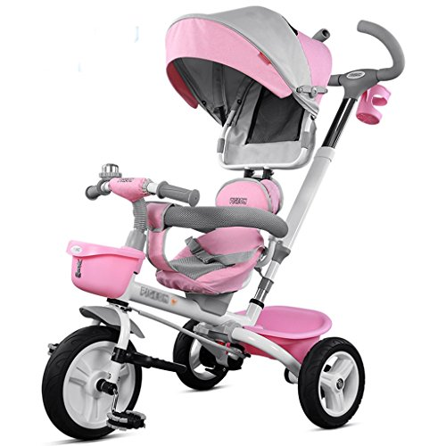 Sale!! Lightweight Baby Stroller Foldable Lightweight Stroller Riding Tricycle Configuration Shelf D...