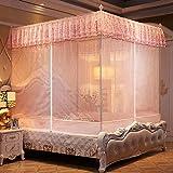 WUANNI Moskitonetz FüR Kinderbett Und Einzelbett,Children's Anti-Account Three-Door Mosquito Net Sitting Bed Type Zipper Anti-Fall Home-C_2.0m