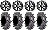 Bundle - 9 Items: MSA Black Diesel 14' UTV Wheels 30' BKT AT 171 Tires [4x110...