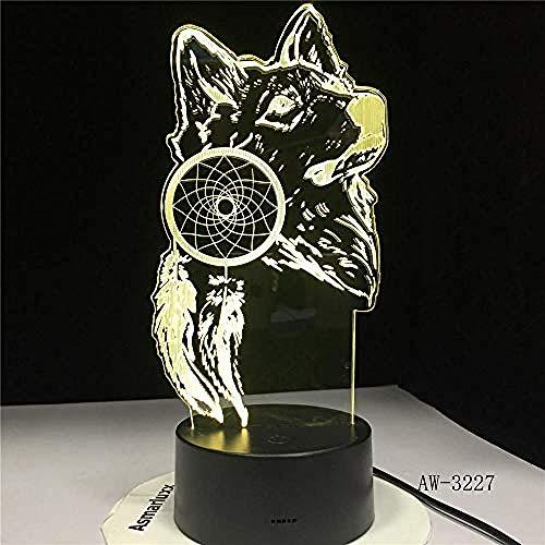 Nachtlicht Wolf Nachtlicht bunte Wolf Design Tischlampe Hauptdekoration magische Laterne Schlafzimmer moderne Dekoration