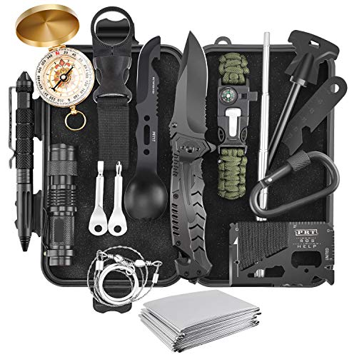 Verifygear Survival Kit, 17 in 1 Professional Survival Gear Equipment Tools First Aid Supplies for SOS Emergency Tactical Hiking Hunting Disaster Camping Adventures