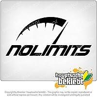 制限なし - 速度制限なし No Limits - No speed limit 20cm x 9cm 15色 - ネオン+クロム! ステッカービニールオートバイ