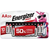 Energizer AA Batteries (20 Count), Double A Max Alkaline Battery