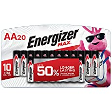 Image of Energizer AA Batteries 20. Brand catalog list of Energizer. Rated with a 4.6 over 5