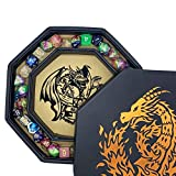 Fantasydice-Chromatic Dragon -with Roll or Die Artwork Dice Tray - 8' Octagon with Lid and Dice Staging Area- Holds 5 Sets of Dice(7 / Standard) for All Tabletop RPGs Like D&D , Call of Cthulhu