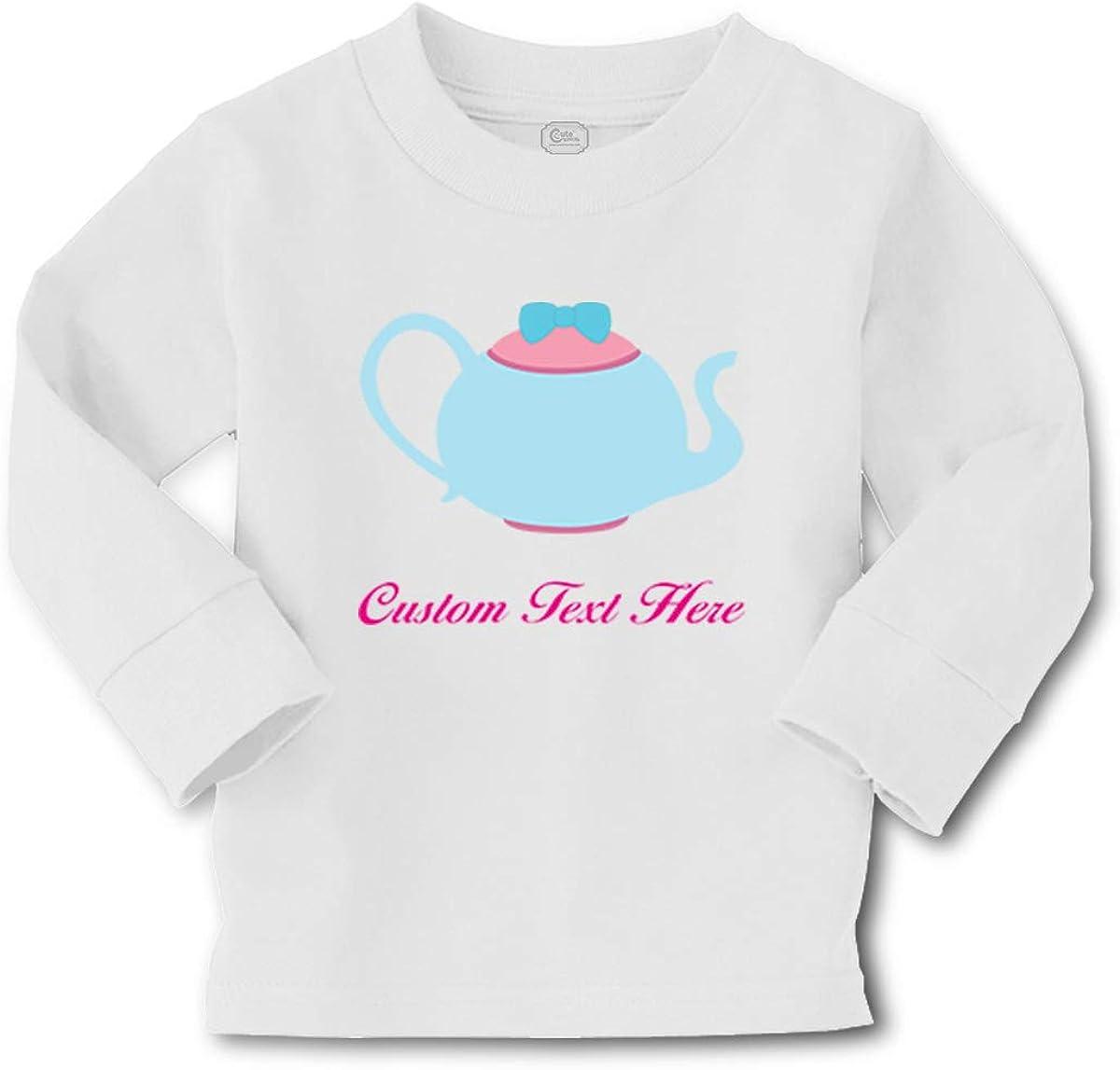 Cute Rascals Kids Long Sleeve T Shirt Light Blue1 Teapot Cotton Boy & Girl Clothes