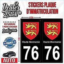 Dealer2Stick 2 Stickers Plaque immatriculation 07 Logo ardeche Bleu
