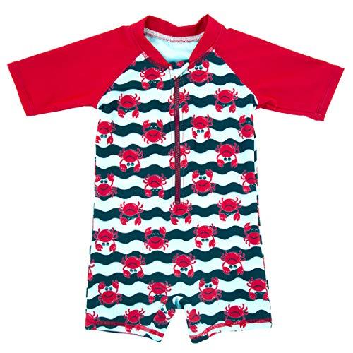 ALLAIBB Costume da Bagno per BambiniMuta da Subper la lezione di Nuoto Piscina 6 mesi-4Anni Size 6M (Rosso)
