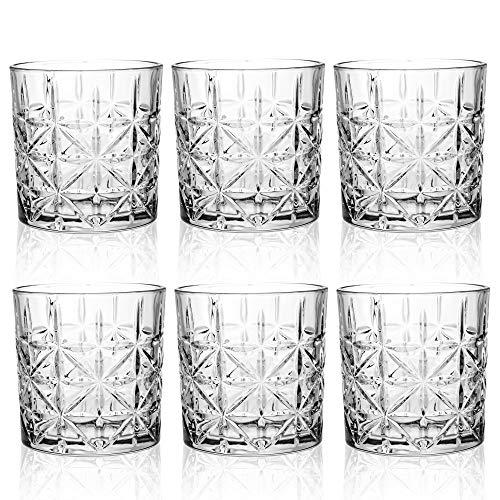 Queensway - Set di 6 bicchieri da whisky in confezione regalo, 6x Regency Whiskey Tumblers