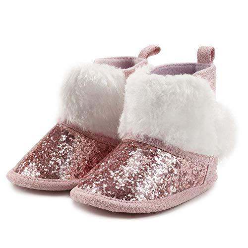 BiBeGoi Infant Baby Girls Boys Snow Boots Soft Anti-Skid Sole Ankle Premium Booties Newborn Toddler Prewalker Winter Warm Crib Shoes