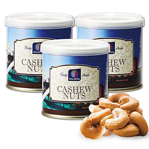 マレーシアお土産 | マレーシア 塩味カシューナッツ 3缶セット