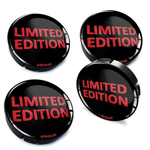 SkinoEu® 4 x 60mm Universal Tapas de Rueda de Centro Limited Edition Tapacubos para Llantas Coche C 65