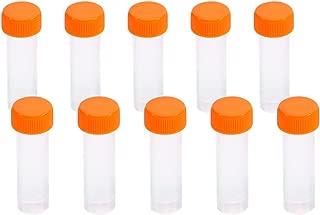 10 unidades 5 ML Tubos de Prueba Plásticos Tubos de Ensayo Congelados Tubo con Marcas Graduadas Tapón de Tuerca para Laboratorio