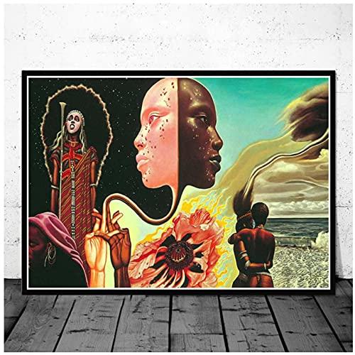 ZFLSGWZ Miles Davis Poster Wall Art Jazz Music Star Pittura su Tela Poster E Stampe Foto in Bianco E Nero per La Decorazione Domestica -50X70Cm Senza Cornice