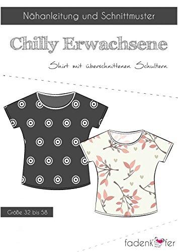 Stoffe Werning Schnittmuster Fadenkäfer Chilly Damen Shirt mit überschnittenen Schultern für Damen in den Größen 32 bis 58 Papierschnittmuster