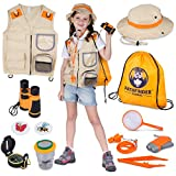 Kids Explorer Kit | Premium Kids Camping Toys and Outdoor Adventure Kits for Boys and Girls, 3-12 Years Old | Backyard Safari Vest & Hat, Kids Binoculars, Flashlight, Bug Kits for Kids, Compass, Ebook