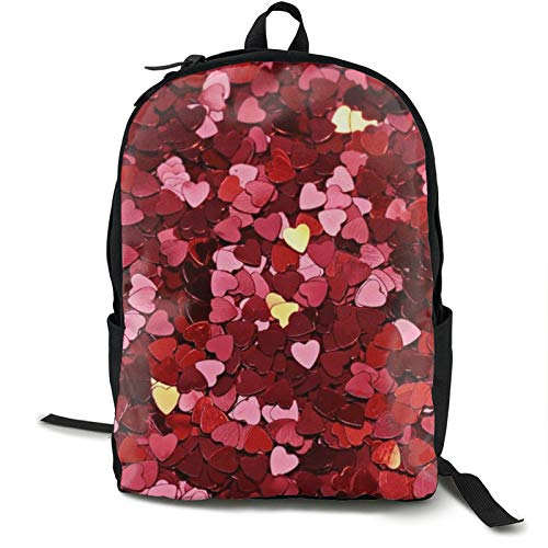 Lightweight Backpack Rucksack Foldable Ultralight Packable Backpack,Texture Heart Red Unisex Durable Handy Daypack for Travel & Outdoor Sports