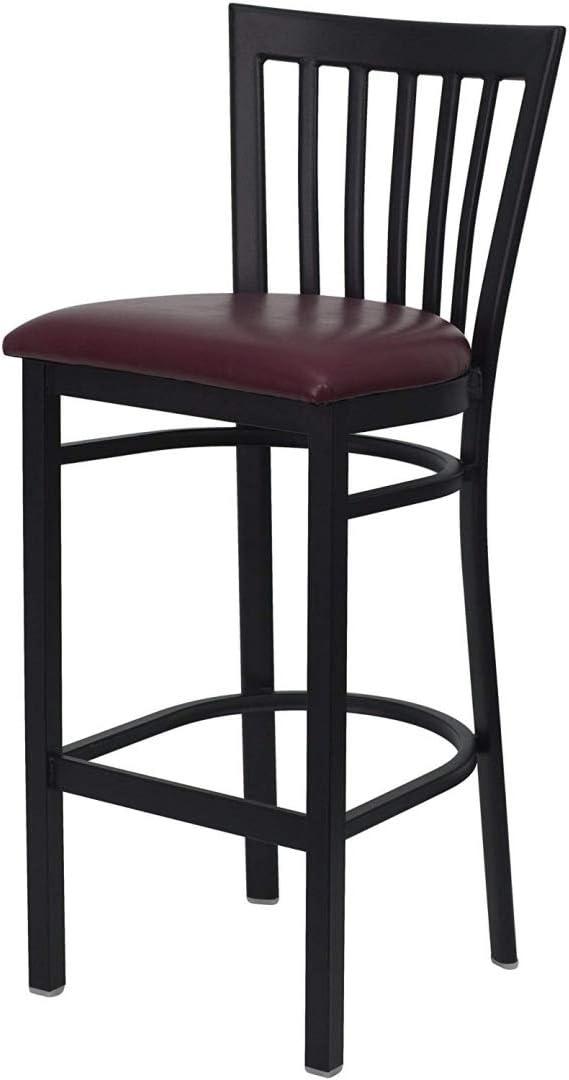 Arlington Mall Modern Style Vertical Back Design Metal sale Dining Stools Commer Bar
