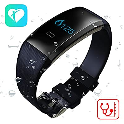 TenTenco Fitness Tracker with Bluetooth 4.0, Blood Pressure/Blood Oxygen/Heart Rate Monitor/Sleep Monitor Smart Watch, Work with Android and iOS
