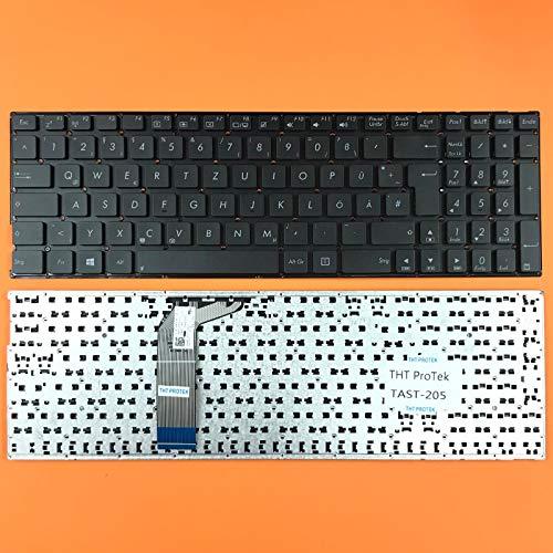 kompatibel für ASUS X756, X756U DEUTSCHE - Schwarz Tastatur Keyboard ohne Rahmen