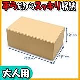 靴箱[底ロックタイプ] (300×180×120) クラフト 10枚セット (シューズボックス ダンボール 段ボール 靴収納ボックス 1足用)