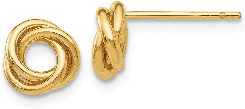 Beautiful Yellow gold 14K Yellowgold 14k Polished Knot Post Earrings