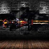 5 Panel/Set Lienzos Handart Cuadro En Lienzo Cinco Partes HD Clásico Óleo Impresiones Decorativas Cartel Arte Pared Pinturas Hogar Lienzo F1 Red Bull Racing