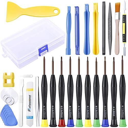 EXTSUD Set Cacciaviti di Riparazione Professionali 32Pz Kit Cacciaviti Assortiti Magnetici di Precisione per Smartphone, Laptop, Tablet, Computer, Elettronica, Cellulare, PS3, PS4, Xbox One, Xbox 360