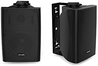 """Audibax, Altavoces Elipse 4"""" - Altavoces HiFi y Sonorización, 2 Vías, Soporte Pared, Color Negro, Pareja, Potencia 30 W, F..."""