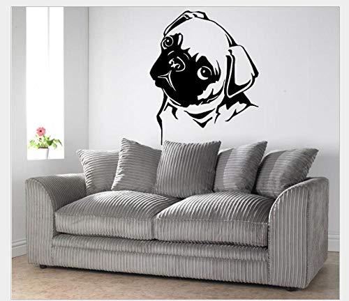 Pegatinas De Pared Decorativas Perro Mascota Serie Generación Tallada Personalidad Dormitorio Estudio Tienda De Mascotas Ventana Fondo Pared 60 * 50 Cm