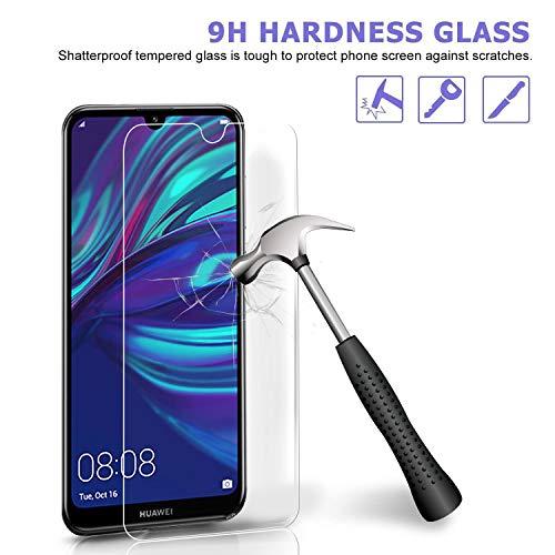 Ferilinso Panzerglas Schutzfolie für Huawei Y7 Prime 2019/ Huawei Y7 Pro 2019/ Huawei Y7 2019, [3 Pack] Gehärtetes Glas Displayschutzfolie (Transparent) - 3