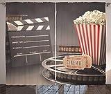 ABAKUHAUS Cine Cortinas, Imagen en Movimiento, Sala de Estar Dormitorio Cortinas Ventana Set de Dos Paños, 280 x 225 cm, Multicolor