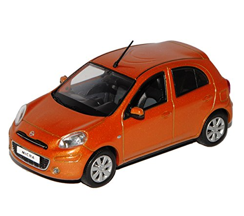J-Collection Nissan Micra Orange Rot K13 4. Generation Ab 2010 1/43 Modell Auto Modellauto