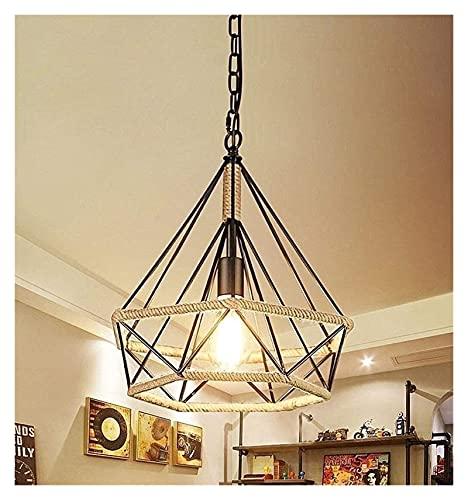 nakw88 Industrial LED Chandelier Chandelier Hanging Ceiling Fixtures Attic Room Living Room Bar Cafe (Size: 25 * 26 Cm) 1