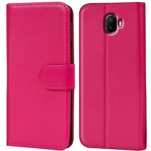 Verco Wim Hülle, Handyhülle für Wiko Wim Tasche PU Leder Flip Case Brieftasche - Pink