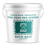 Product Image of the 100% Pure Dead Sea Mineral Bath Salt 5Lb (Eucalyptus). Contains Sulfur, Magnesium, and 21 Essential Minerals.
