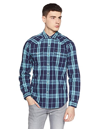 Lee Men's Casual Shirt (8907649172919_L28416CB05MAXXL_Jsw-Green)