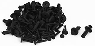 uxcell 30 Pcs Black Car Bumper Fender Plastic Rivets a15070100ux0533