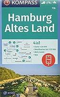 KOMPASS Wanderkarte Hamburg, Altes Land 1:50 000: 4in1 Wanderkarte 1:50000 mit Aktiv Guide und Detailkarten inklusive Karte zur offline Verwendung in der KOMPASS-App. Fahrradfahren. Reiten.