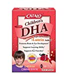 CATALO - Children's DHA IQ Fish Formula (Lutein Added), Support Brain Eye Development with Omega 3, DHA, EPA, and Lutein from Marigold Extract, 50 Strawberry Flavor Chewable Softgels
