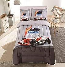 طقم لحاف مفرش سرير 4 قطع من هورس ، مقاس مفرد,Kelly-007