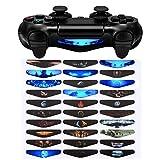 eXtremeRate 30 Stück Light Bar Stickers Decal Aufkleber Sticker Licht Bar Abziehbild für Playstation 4/PS4 Slim/PS4 Pro Kontroller