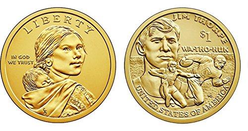 2018 P, D Native American (Sacagawea/Golden) Dollar 2 Coin Set Uncirculated