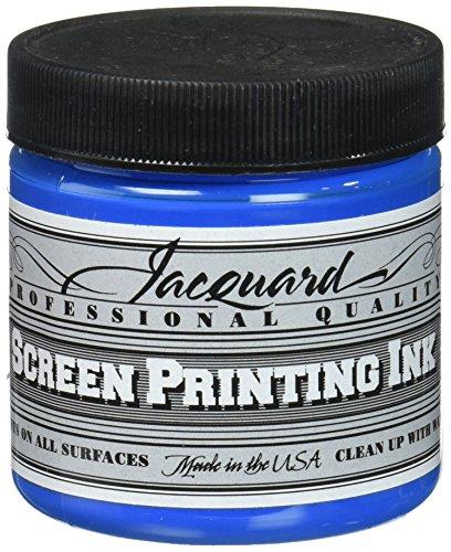 Jacquard JAC-JSI1128 Screen Printing Ink, 4 oz, Opaque Blue