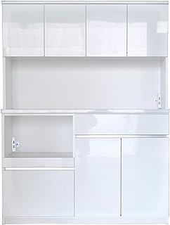 セル 140 オープンボード 食器棚 (ハイホワイト)