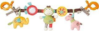 Fehn 074550 Kinderwagenkette Safari – Mobile-Kette mit niedlichen Figuren zum Aufhängen an Kinderwagen, Babyschale oder Kinderbett – Für Babys und Kleinkinder ab 0 Monaten, Länge: 45cm